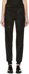 Paco Rabanne Black Mesh Trimmed Lounge Pants