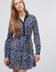 Yumi Front Button Dress Navy