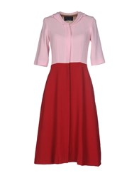 Andrea Incontri Knee Length Dresses Pink