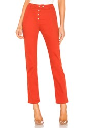 By The Way Veronica Snap Front Pant Rust