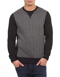 William Rast Quilted Contrast Sweater