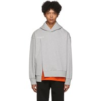 Wooyoungmi Grey French Terry Hoodie