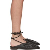 3.1 Phillip Lim Black Nadia Lace Up Ballet Flats