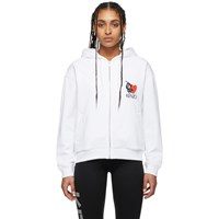 Kenzo White Limited Edition Valentines Day Lucky Tiger Hoodie