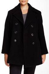 Kenneth Cole Wool Blend Peacoat Plus Size Black