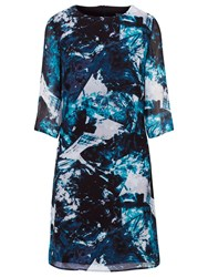 Sugarhill Boutique Amelia Ice Print Tunic Dress Teal