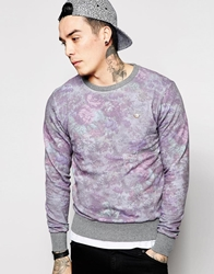Rock And Religion Floral Sweatshirt Blue