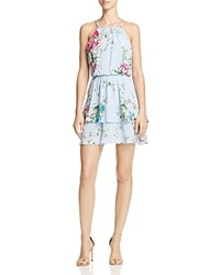 Aqua Floral Fit And Flare Dress 100 Exclusive Blue Multi