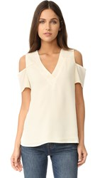 Cooper And Ella Sonia Cold Shoulder Top Ivory