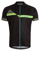 Ziener Cardo Sports Shirt Black Lime Green