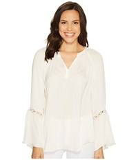 Catherine Malandrino Finley Blouse Empire White Women's Blouse