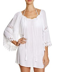 Surf Gypsy Crocheted Open Back Dress Swim Cover Up White