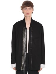 Haider Ackermann Embellished Cotton Blazer Black