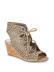 Dolce Vita Lenka Cutout Design Leather Sandals Light Taupe