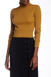 A.L.C. Milo Cropped Wool Blend Turtleneck Sweater Multi
