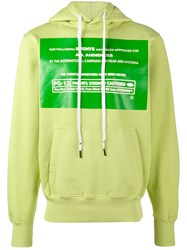 Liam Hodges Following Printed Hoodie Men Cotton S Green