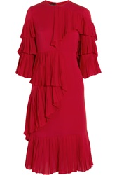 Gucci Ruffled Silk Georgette Dress