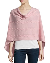 Minnie Rose Cashmere Cable Knit Poncho Bunny Slop
