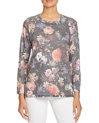 Nally And Millie Floral Print High Low Tee Multi