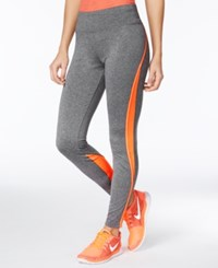 Energie Active Juniors' Colorblocked Leggings Heather Grey Orange