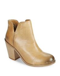 Kenneth Cole Reaction Kite Fly Leather Booties Cognac