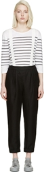 Band Of Outsiders Black Linen Suspender Trousers