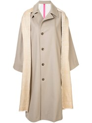 Y's Coat With Shawl Detail Neutrals