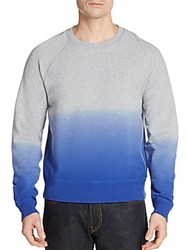 Saks Fifth Avenue Ombre Crew Sweater Grey Blue