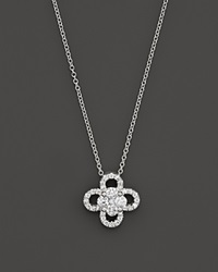 Bloomingdale's Diamond Clover Pendant Necklace In 14K White Gold .55 Ct. T.W.