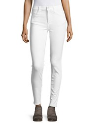 French Connection Stretch Cotton Skinny Jeans Charcoal Summer White