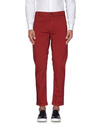Monocrom Casual Pants Brick Red