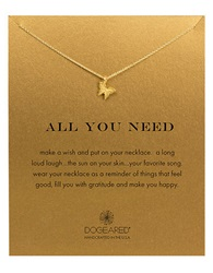 Dogeared 'All You Need' Butterfly Pendant Necklace Gold
