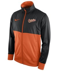 Nike Men's Baltimore Orioles Track Jacket 1.7 Black Orange