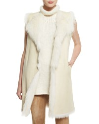 Theory Curako B. Hollice Fur Vest Men's Size Medium Ivory
