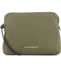 Burberry Zip Pouch Canvas Green