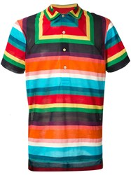 Paul Smith Geometric Striped Polo Shirt