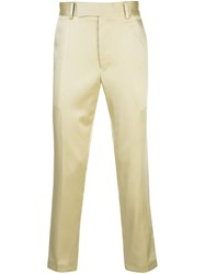 Haider Ackermann Regular Fit Tailored Trousers Yellow