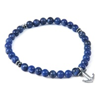 Anchor And Crew Blue Sodalite Starboard Natural Stone Bracelet