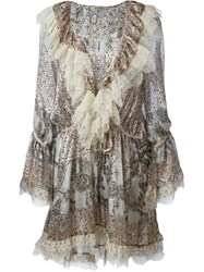 Etro Lace Detail Short Dress Multicolour