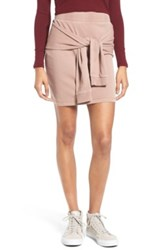 Bp Tie Front Fleece Skirt Brown
