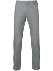 Entre Amis Creased Slim Fit Trousers Grey