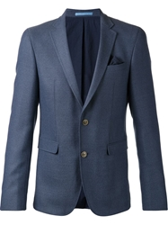 Sand Textured Blazer Blue
