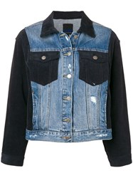 Sjyp Hybrid Corduroy Denim Jacket Blue