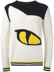 Ermanno Scervino 'Cat's Eye' Motif Jumper White