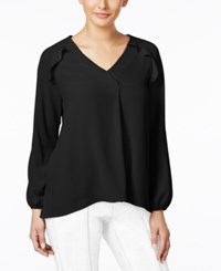 Ny Collection Ruffled Blouse Black