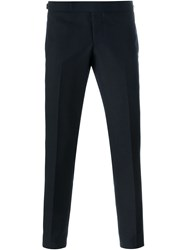 Thom Browne Slim Tailored Trousers Blue