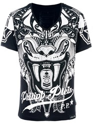 Philipp Plein Embellished T Shirt Black