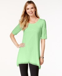 Styleandco. Style And Co. Lace Trim Tunic Top Only At Macy's