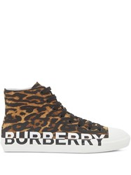 Burberry Leopard Print High Top Sneakers 60
