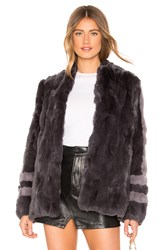 Heartloom Tess Fur Coat Gray